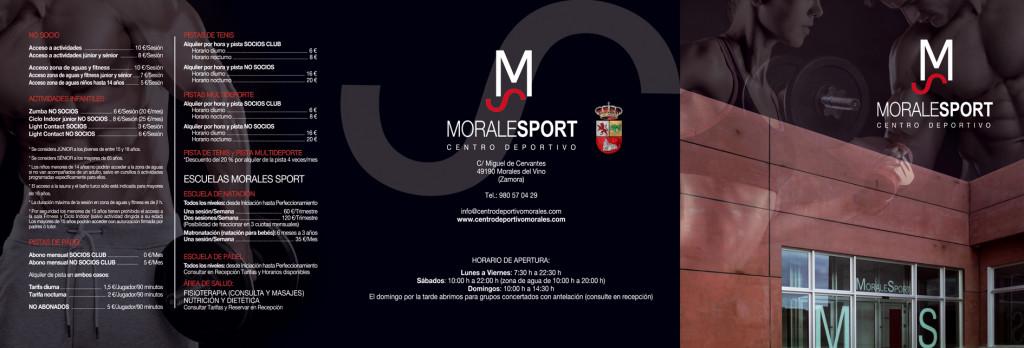 Tarifas centro deportivo Morales Sport